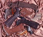 Calçados de Brown Imagem de Stock