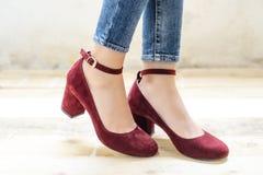 Calçados elegantes da fêmea do vintage Imagens de Stock