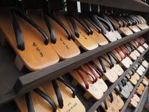 Calçados japoneses tradicionais Fotografia de Stock Royalty Free