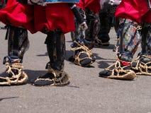 Calçados japoneses tradicionais da infantaria Imagem de Stock