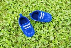 Calçados na grama Fotos de Stock