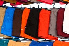 Calças curtos coloridas Foto de Stock Royalty Free