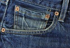 Calças da sarja de Nimes. Foto de Stock