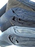 Calças da sarja de Nimes Foto de Stock