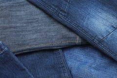 Calças da sarja de Nimes, fim acima Imagem de Stock
