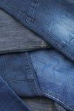 Calças da sarja de Nimes, fim acima Imagens de Stock