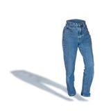 Calças de brim azuis da sarja de Nimes das mulheres Imagens de Stock Royalty Free