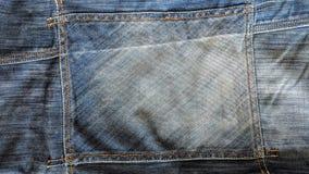Calças de brim com a costura no formulário do retângulo ilustração stock