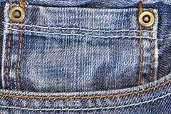 Calças de brim da sarja de Nimes Fotografia de Stock