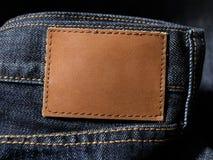 Calças de brim da sarja de Nimes Foto de Stock