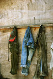 Calças de brim de Grunge Fotos de Stock