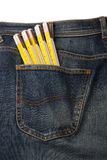 Calças de brim e ferramentas Imagem de Stock