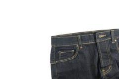 Calças de brim no fundo branco Imagens de Stock