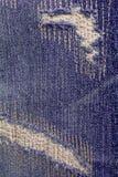 Calças de brim rasgadas textura Imagens de Stock