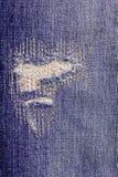 Calças de brim rasgadas textura Imagem de Stock Royalty Free