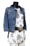 Calças de brim revestimento e vestido Fotografia de Stock Royalty Free