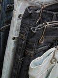 Calças de brim usadas Fotografia de Stock Royalty Free