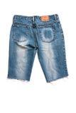 Calças de calças de ganga isoladas Fotos de Stock Royalty Free