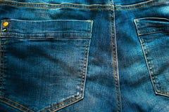 A calças de ganga suporta o bolso Foto de Stock Royalty Free