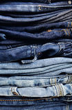 Calças de ganga velha Fotografia de Stock