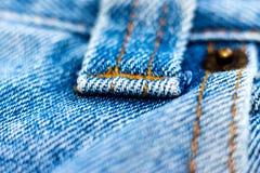 Calças de ganga vestida velha Fotos de Stock
