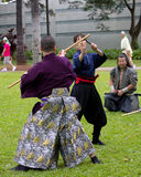 Calças do samurai Imagens de Stock