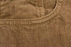 Calças do veludo de algodão Imagens de Stock Royalty Free