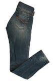 Calças fêmeas das calças de brim Imagens de Stock Royalty Free