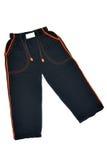 Calças pretas Fotografia de Stock Royalty Free
