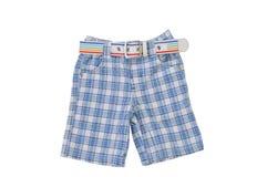 Calças quadriculado com correia Imagem de Stock Royalty Free