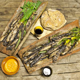 Calçots in a tires Stock Photography