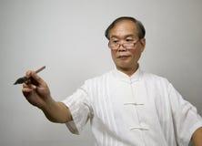 Calígrafo chino Fotos de archivo libres de regalías