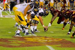 Cal Bears-Fußball Lizenzfreie Stockfotografie