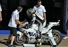 Cal Crutchlow in the circuit of Catalonia Stock Photos