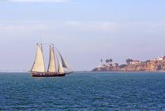 cal Diego loma blisko past punktu żegluje San skuner Fotografia Royalty Free