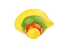 Cal e cereja do limão Fotografia de Stock Royalty Free