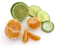 Cal e tangerine Imagem de Stock Royalty Free