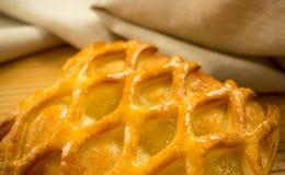 Cal e torta de maçã imagens de stock royalty free