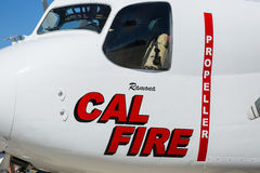 Cal Fire Aircraft. A Cal Fire Aircraft used to fight California wildfires Stock Photos