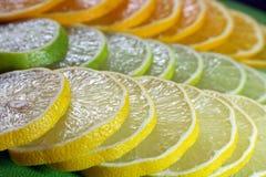 Cal, limão e laranja Fotografia de Stock