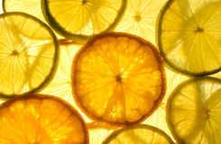 Cal, limão e laranja Imagens de Stock Royalty Free