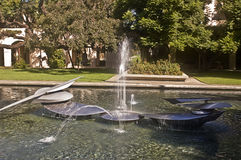 Cal Tech Fountain. This is a fountain at Cal Tech (California Institute of Technology) located behind the Millikan Library Stock Photos