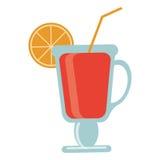 cal tropical do cocktail na borda ilustração royalty free