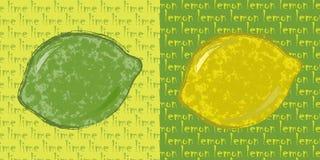 Cal y limón ilustración del vector