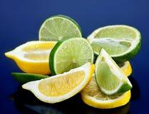 Cal y limón Foto de archivo