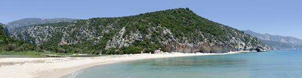 Cala月神海滩,撒丁岛 库存图片