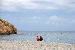 Cala格拉纳德利亚, Javea,西班牙 安静的下午 免版税库存图片