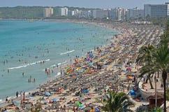 Cala παραλία millor στοκ εικόνα