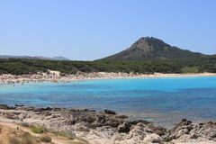 Cala Agulla Beach Stock Photography