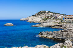 Cala Agulla, Majorca, Espagne images libres de droits